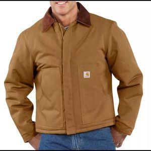 C003 Carhartt Duck Traditional Coat Brown